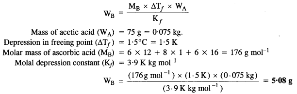 NCERT Solutions For Class 12 Chemistry Chapter 2 Solutions Textbook Questions Q11