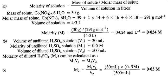 NCERT Solutions For Class 12 Chemistry Chapter 2 Solutions Textbook Questions Q3