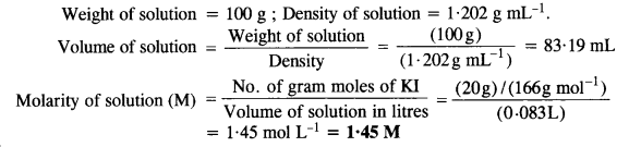 NCERT Solutions For Class 12 Chemistry Chapter 2 Solutions Textbook Questions Q5.1