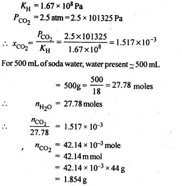 NCERT Solutions For Class 12 Chemistry Chapter 2 Solutions Textbook Questions Q7
