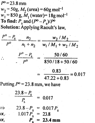 NCERT Solutions For Class 12 Chemistry Chapter 2 Solutions Textbook Questions Q9