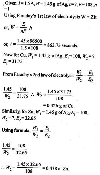 NCERT Solutions For Class 12 Chemistry Chapter 3 Electrochemistry Exercises Q16