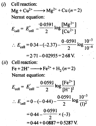 NCERT Solutions For Class 12 Chemistry Chapter 3 Electrochemistry Exercises Q5.1
