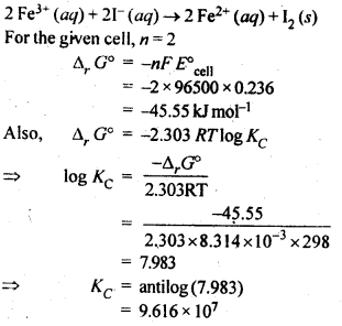 NCERT Solutions For Class 12 Chemistry Chapter 3 Electrochemistry Textbook Questions Q6