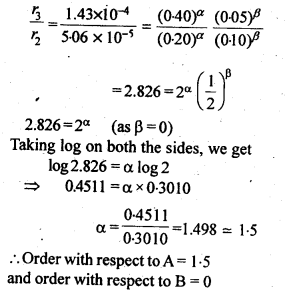 NCERT Solutions For Class 12 Chemistry Chapter 4 Chemical Kinetics Exercises Q10.2