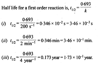 NCERT Solutions For Class 12 Chemistry Chapter 4 Chemical Kinetics Exercises Q13