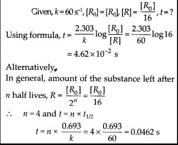 NCERT Solutions For Class 12 Chemistry Chapter 4 Chemical Kinetics Exercises Q16