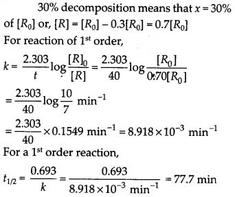 NCERT Solutions For Class 12 Chemistry Chapter 4 Chemical Kinetics Exercises Q19