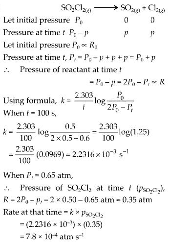 NCERT Solutions For Class 12 Chemistry Chapter 4 Chemical Kinetics Exercises Q21.1