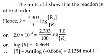 NCERT Solutions For Class 12 Chemistry Chapter 4 Chemical Kinetics Exercises Q24