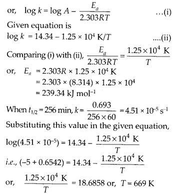 NCERT Solutions For Class 12 Chemistry Chapter 4 Chemical Kinetics Exercises Q27.1