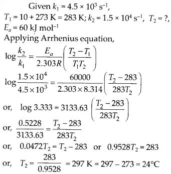 NCERT Solutions For Class 12 Chemistry Chapter 4 Chemical Kinetics Exercises Q28