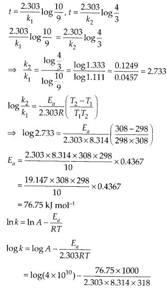 NCERT Solutions For Class 12 Chemistry Chapter 4 Chemical Kinetics Exercises Q29.1