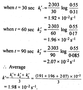 NCERT Solutions For Class 12 Chemistry Chapter 4 Chemical Kinetics Exercises Q8.1