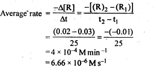 NCERT Solutions For Class 12 Chemistry Chapter 4 Chemical Kinetics Textbook Questions Q1