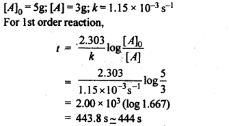 NCERT Solutions For Class 12 Chemistry Chapter 4 Chemical Kinetics Textbook Questions Q5