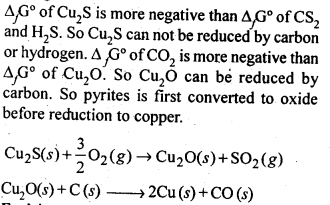 NCERT Solutions For Class 12 Chemistry Chapter 6 General Principles and Processes of Isolation of Elements Exercises Q3