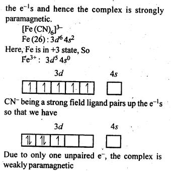 NCERT Solutions For Class 12 Chemistry Chapter 9 Coordination Compounds Intext Questions Q7.1