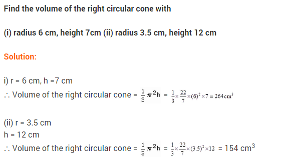 Class 9 Maths NCERT Solutions Chapter 13 Surface Areas and Volumes Ex 13.7 A1