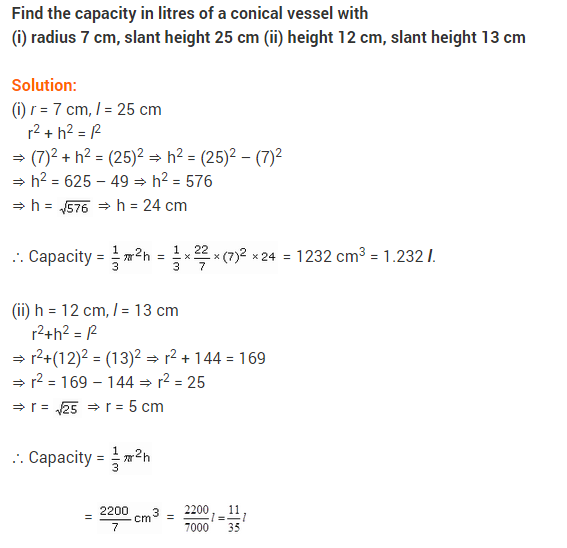 Class 9 Maths NCERT Solutions Chapter 13 Surface Areas and Volumes Ex 13.7 A2