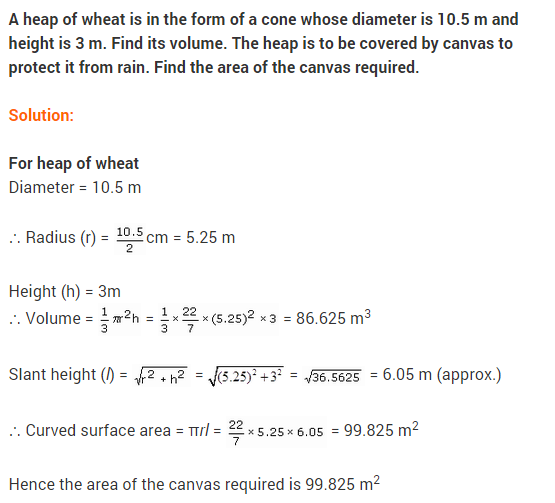 Class 9 Maths NCERT Solutions Chapter 13 Surface Areas and Volumes Ex 13.7 A9