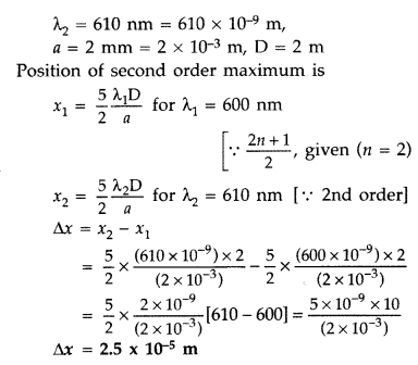 Important Questions for Class 12 Physics Chapter 10 Wave Optics Class 12 Important Questions 101