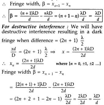 Important Questions for Class 12 Physics Chapter 10 Wave Optics Class 12 Important Questions 109