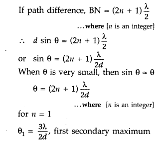 Important Questions for Class 12 Physics Chapter 10 Wave Optics Class 12 Important Questions 126