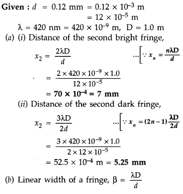 Important Questions for Class 12 Physics Chapter 10 Wave Optics Class 12 Important Questions 47