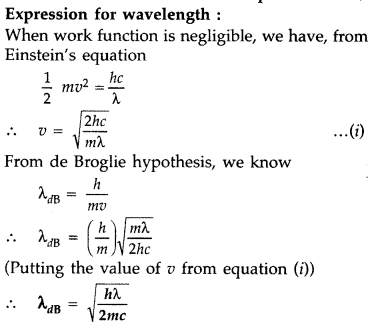 Important Questions for Class 12 Physics Chapter 11 Dual Nature of Radiation and Matter Class 12 Important Questions 38