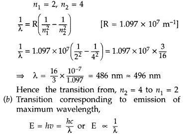 Important Questions for Class 12 Physics Chapter 12 Atoms Class 12 Important Questions 21