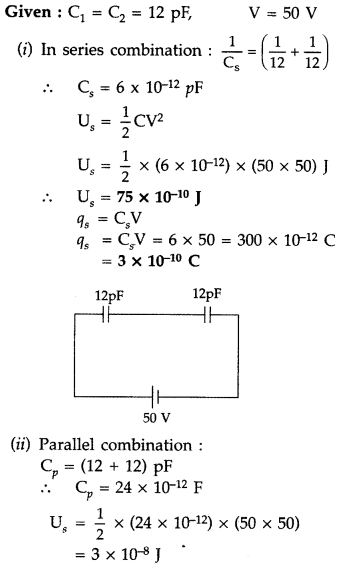 Important Questions for Class 12 Physics Chapter 2 Electrostatic Potential and Capacitance Class 12 Important Questions 114