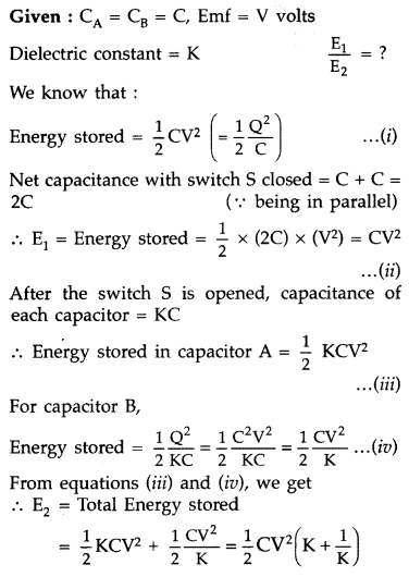 Important Questions for Class 12 Physics Chapter 2 Electrostatic Potential and Capacitance Class 12 Important Questions 117