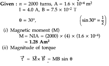 Important Questions for Class 12 Physics Chapter 4 Moving Charges and Magnetism Class 12 Important Questions 118