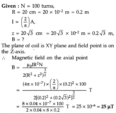 Important Questions for Class 12 Physics Chapter 4 Moving Charges and Magnetism Class 12 Important Questions 126