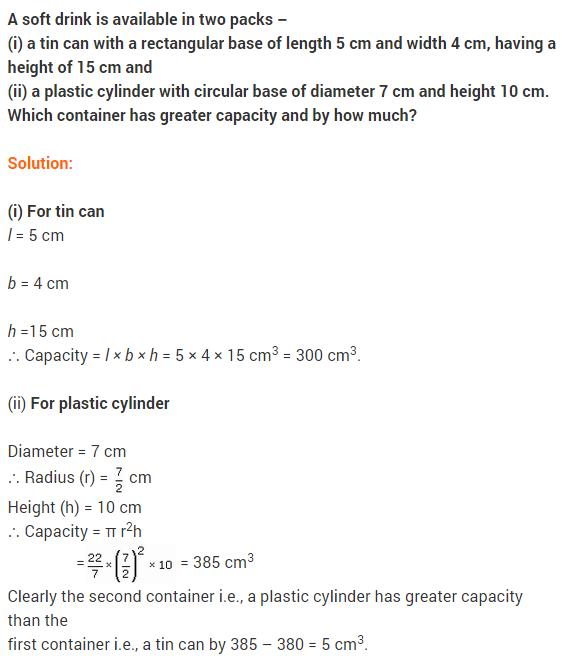 Maths NCERT Solutions Class 9 Chapter 13 Surface Areas and Volumes Ex 13.6 A3