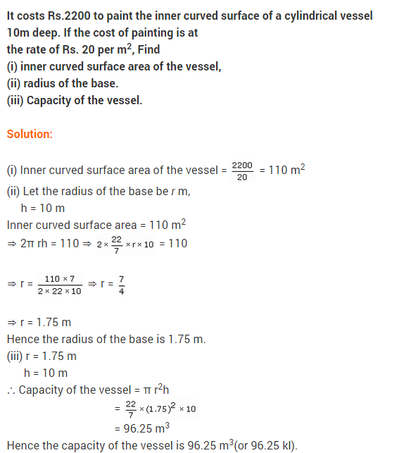 Maths NCERT Solutions Class 9 Chapter 13 Surface Areas and Volumes Ex 13.6 A5