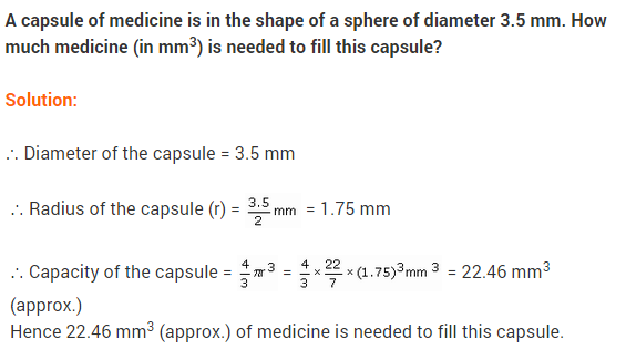NCERT Class 9 Maths Solutions Chapter 13 Surface Areas and Volumes Ex 13.8 A10