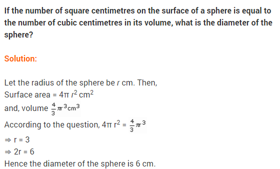 NCERT Class 9 Maths Solutions Chapter 13 Surface Areas and Volumes Ex 13.8 A12