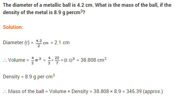 NCERT Class 9 Maths Solutions Chapter 13 Surface Areas and Volumes Ex 13.8 A3