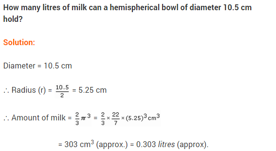 NCERT Class 9 Maths Solutions Chapter 13 Surface Areas and Volumes Ex 13.8 A5