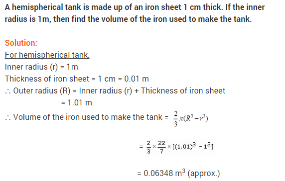 NCERT Class 9 Maths Solutions Chapter 13 Surface Areas and Volumes Ex 13.8 A6