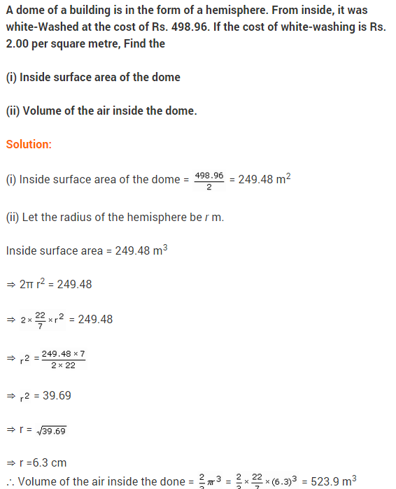 NCERT Class 9 Maths Solutions Chapter 13 Surface Areas and Volumes Ex 13.8 A8