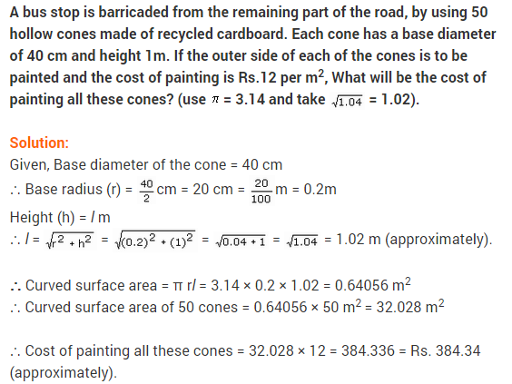 NCERT Solutions Class 9 Maths Chapter 13 Surface Areas and Volumes Ex 13.3 A10