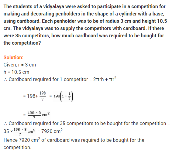 NCERT Solutions Class 9 Maths Chapter 13 Surface Areas and Volumes Ex 13.3 A2