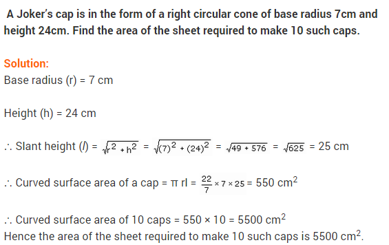 NCERT Solutions Class 9 Maths Chapter 13 Surface Areas and Volumes Ex 13.3 A9