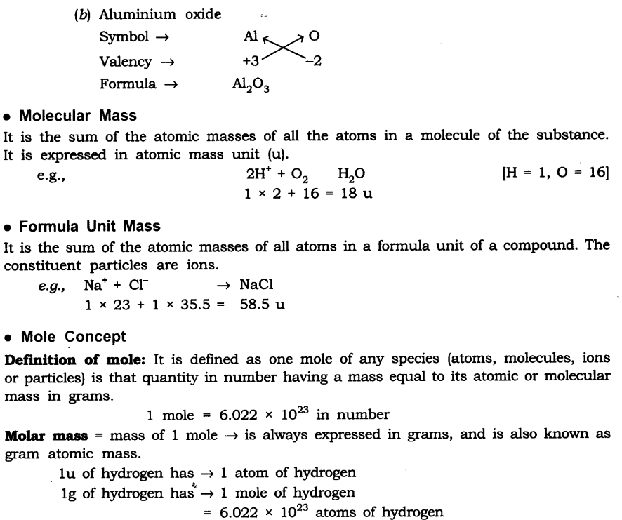 NCERT Solutions For Class 9 Science Chapter 3 Atoms and Molecules Intext Questions Page 32 Q1.1