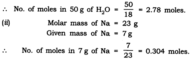 NCERT Solutions For Class 9 Science Chapter 3 Atoms and Molecules SAQ Q9
