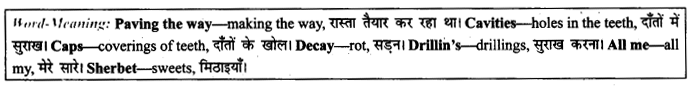 NCERT Solutions for Class 9 English Literature Chapter 11 Oh, I Wish I'd Looked After Me Teeth Paraphrase Q5