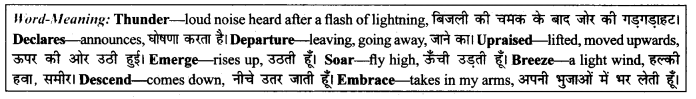 NCERT Solutions for Class 9 English Literature Chapter 12 Song of the Rain Paraphrase Q3